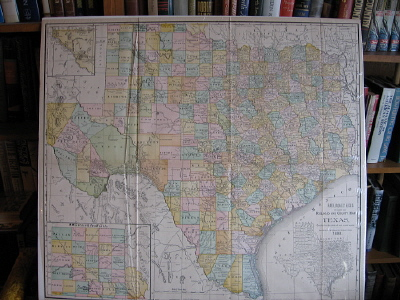Image for Railroad and County Map of Texas.