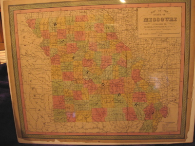 Image for A Map of the State of Missouri
